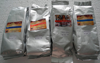 Фольгированные пакеты для кофе