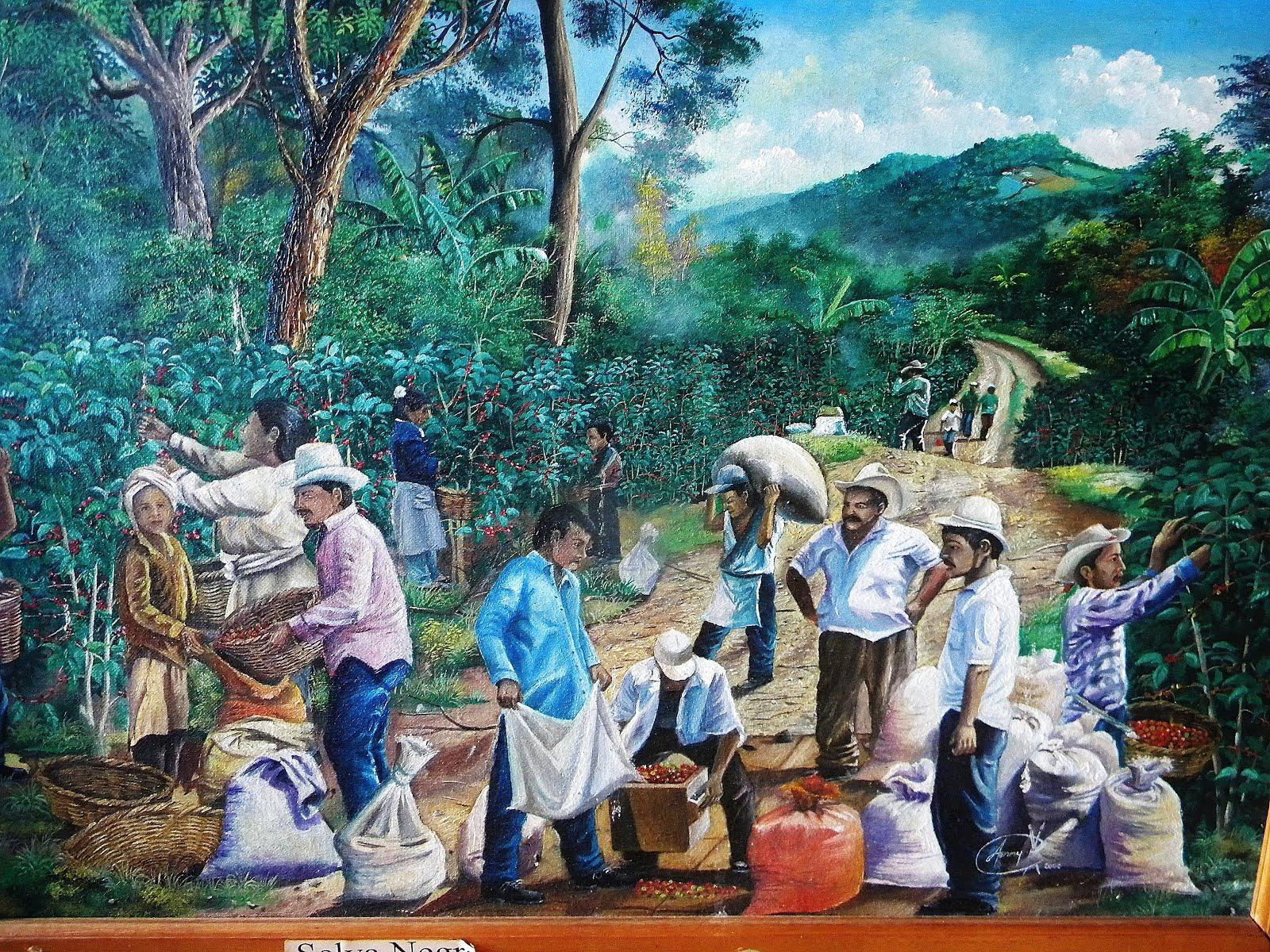 Nicaraguan coffee for Mural nicaraguense