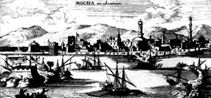 Портовый город Моха на Красном море. Гравюра, 1692 год, Голландия