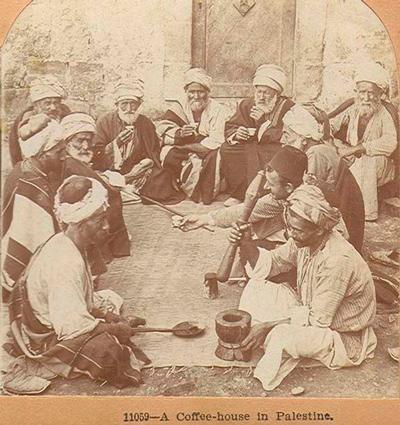 Кофейня в Палестине, 1900