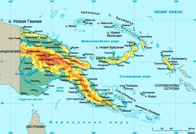 Карта Папуа-Новой Гвинеи