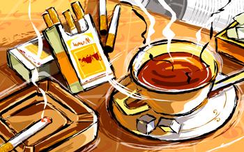 Кофе снижает вред от курения