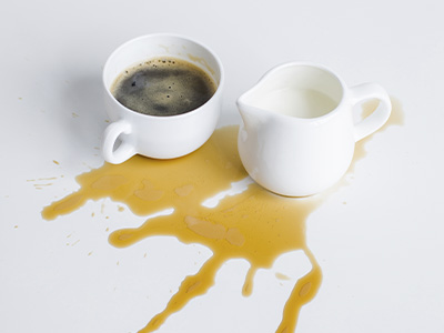 Как вывести кофейные пятна