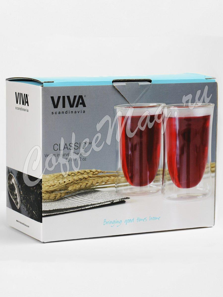VIVA CURVE Термобокал (комплект 2шт) 0,35 л (V75600) Прозрачное стекло