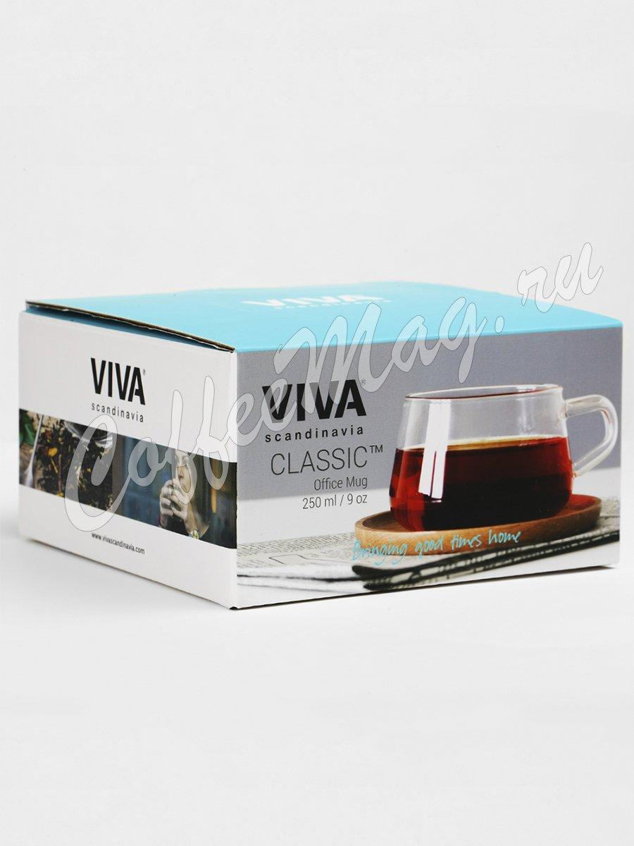 VIVA CLASSIC Чайная чашка с блюдцем 0,25 л (V75800) Прозрачное стекло