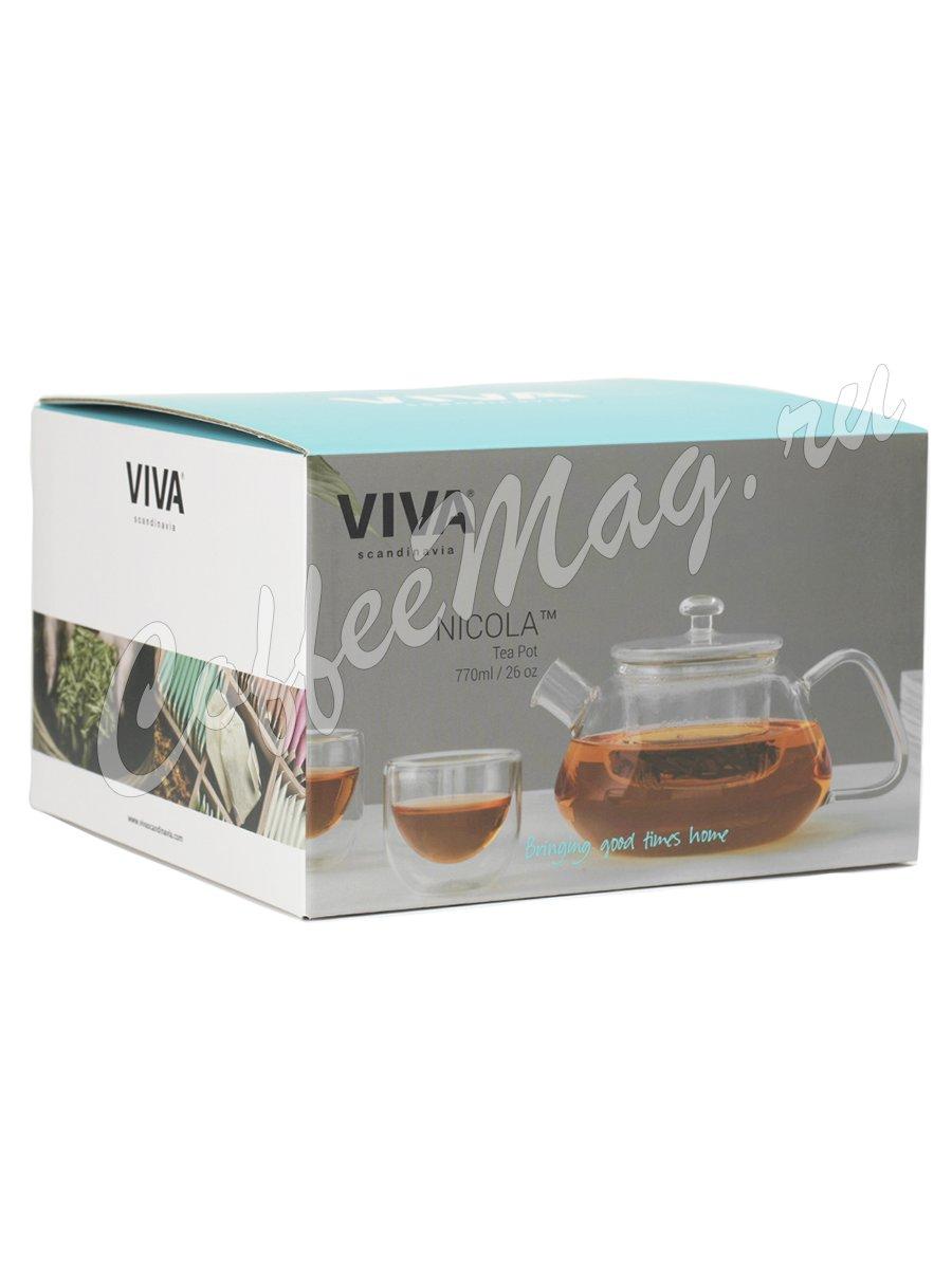 VIVA NICOLA Чайник заварочный с ситечком 0.77 л (V70400) Прозрачное стекло