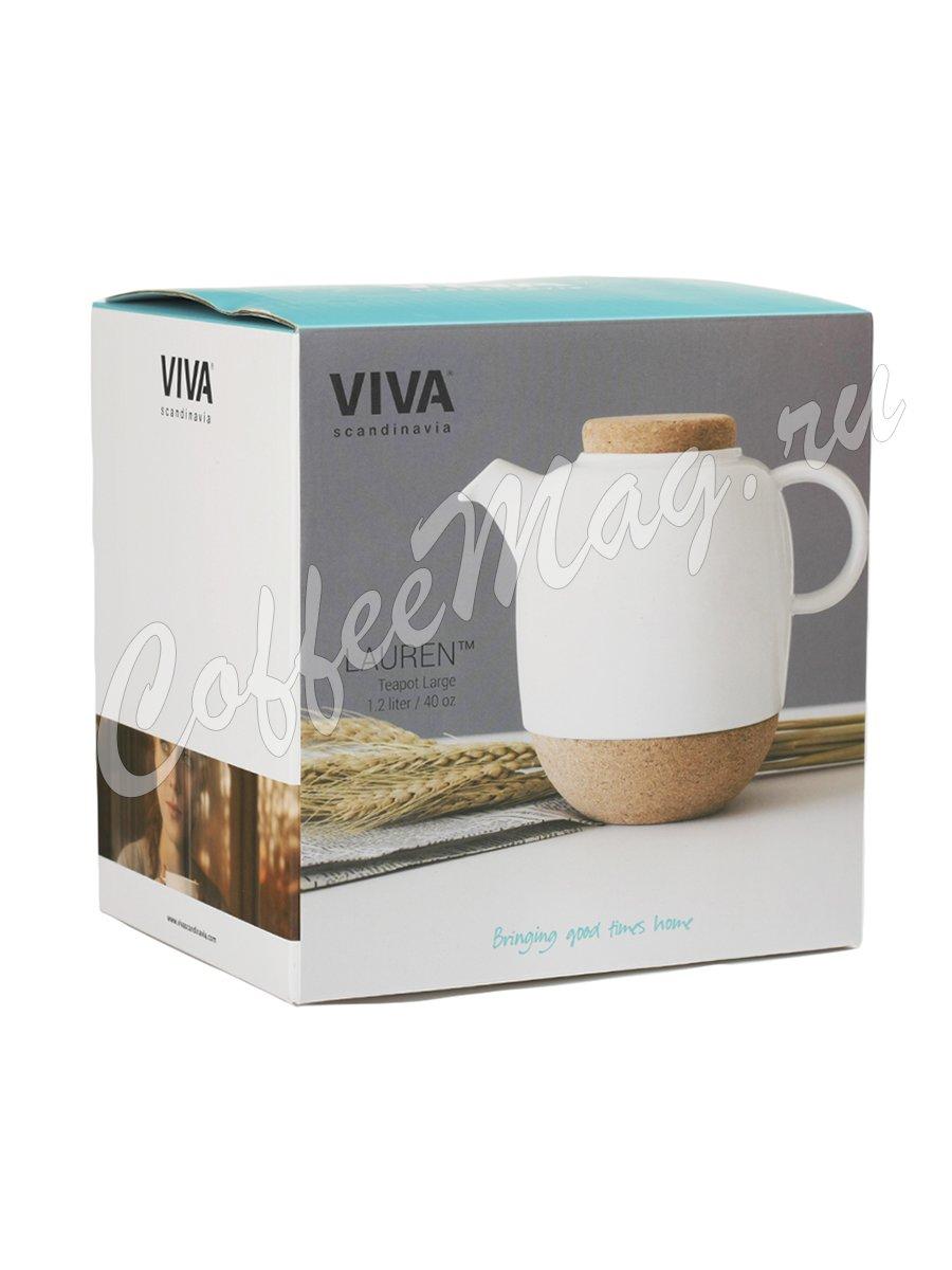 VIVA LAUREN Чайник заварочный с ситечком 1.2 л (V80102) Белый
