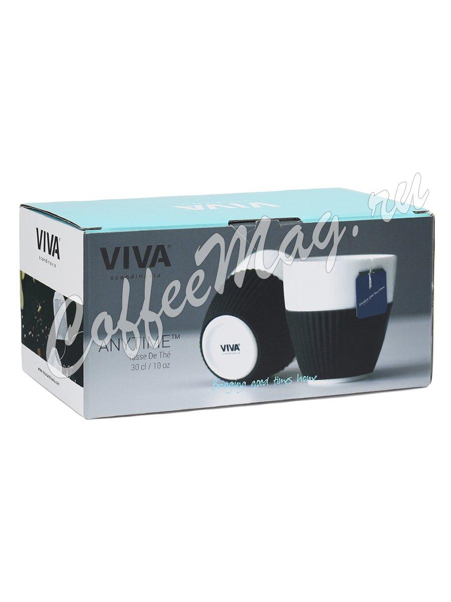 VIVA ANYTIME Чайный стакан (комплект 2шт) 0,3л (V25401) черные