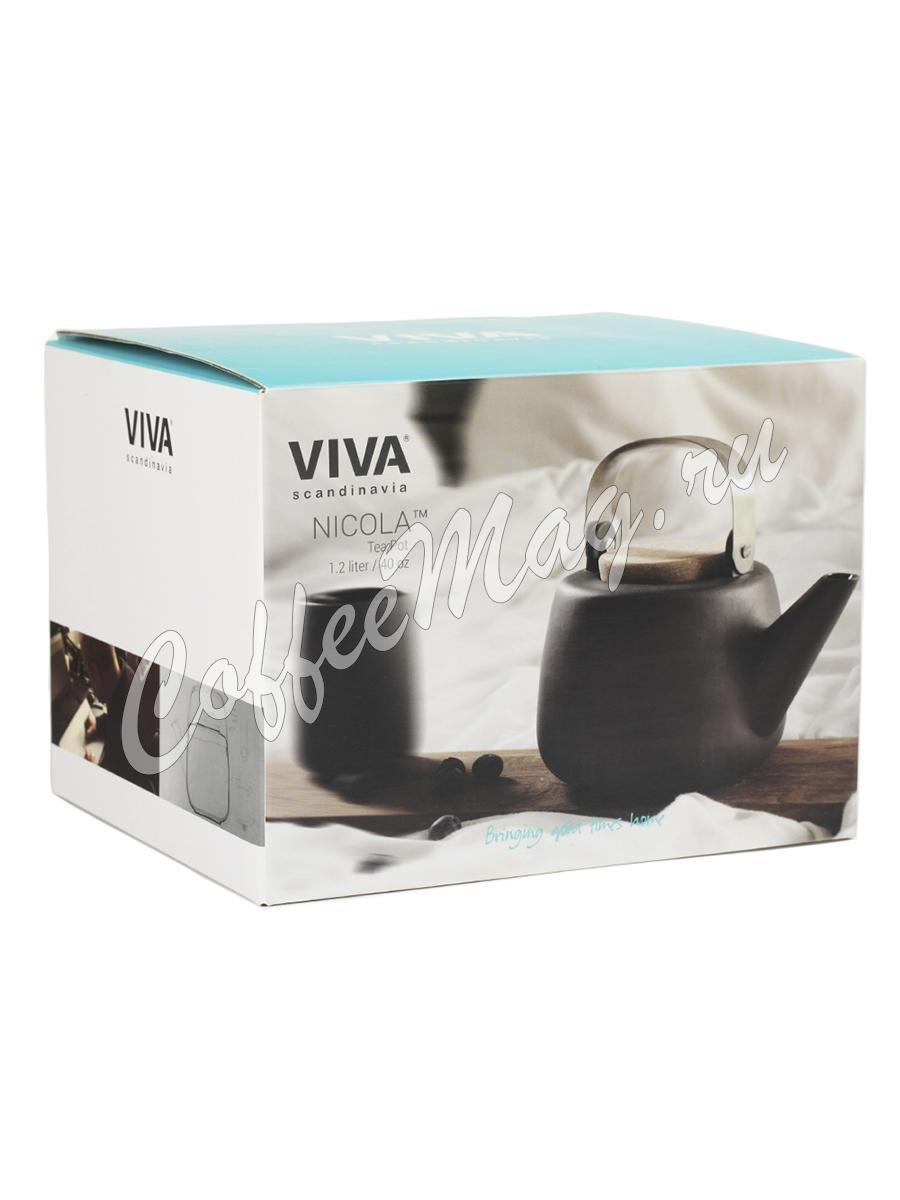 VIVA Nicola Чайник заварочный с ситечком 1.2 л (V36103) Серый