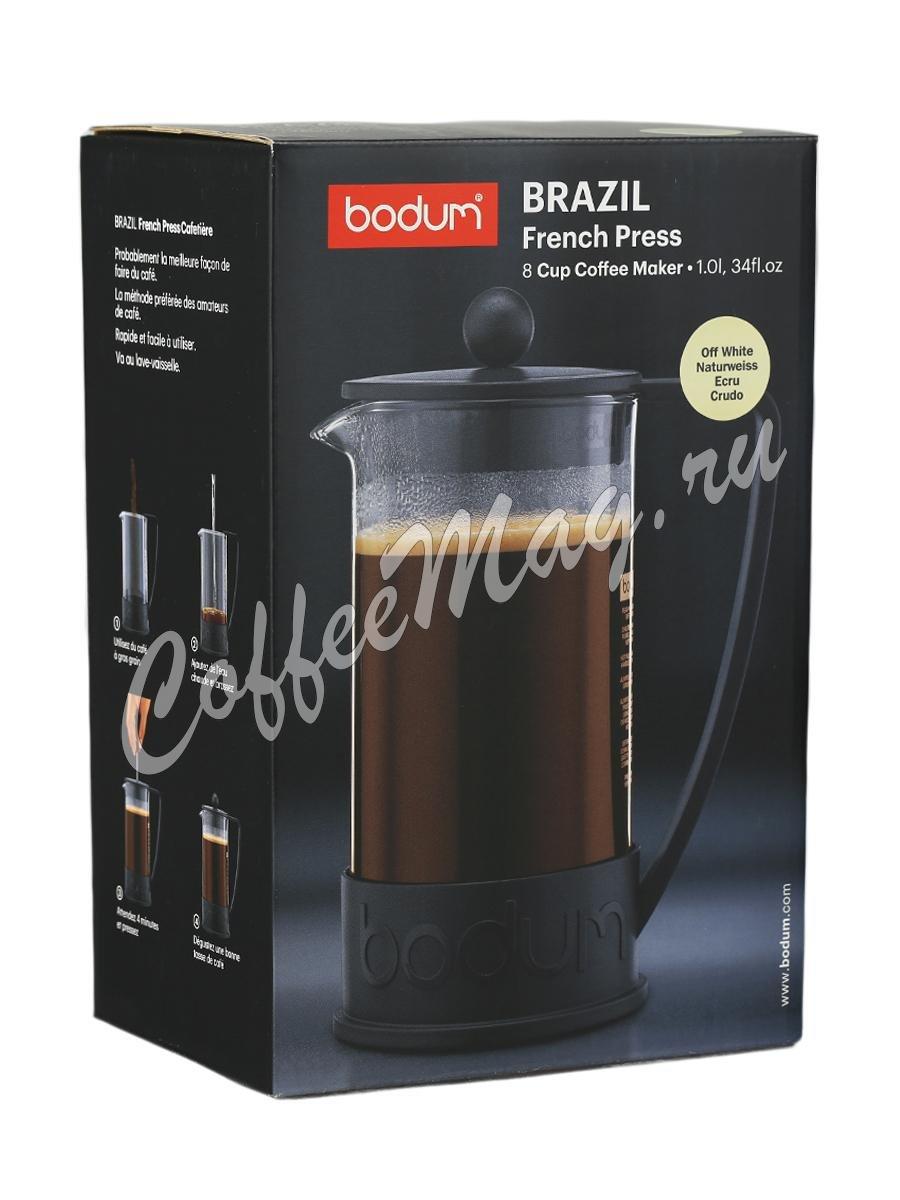 Кофейник с прессом Bodum Brazil белый 1л (10938-913)