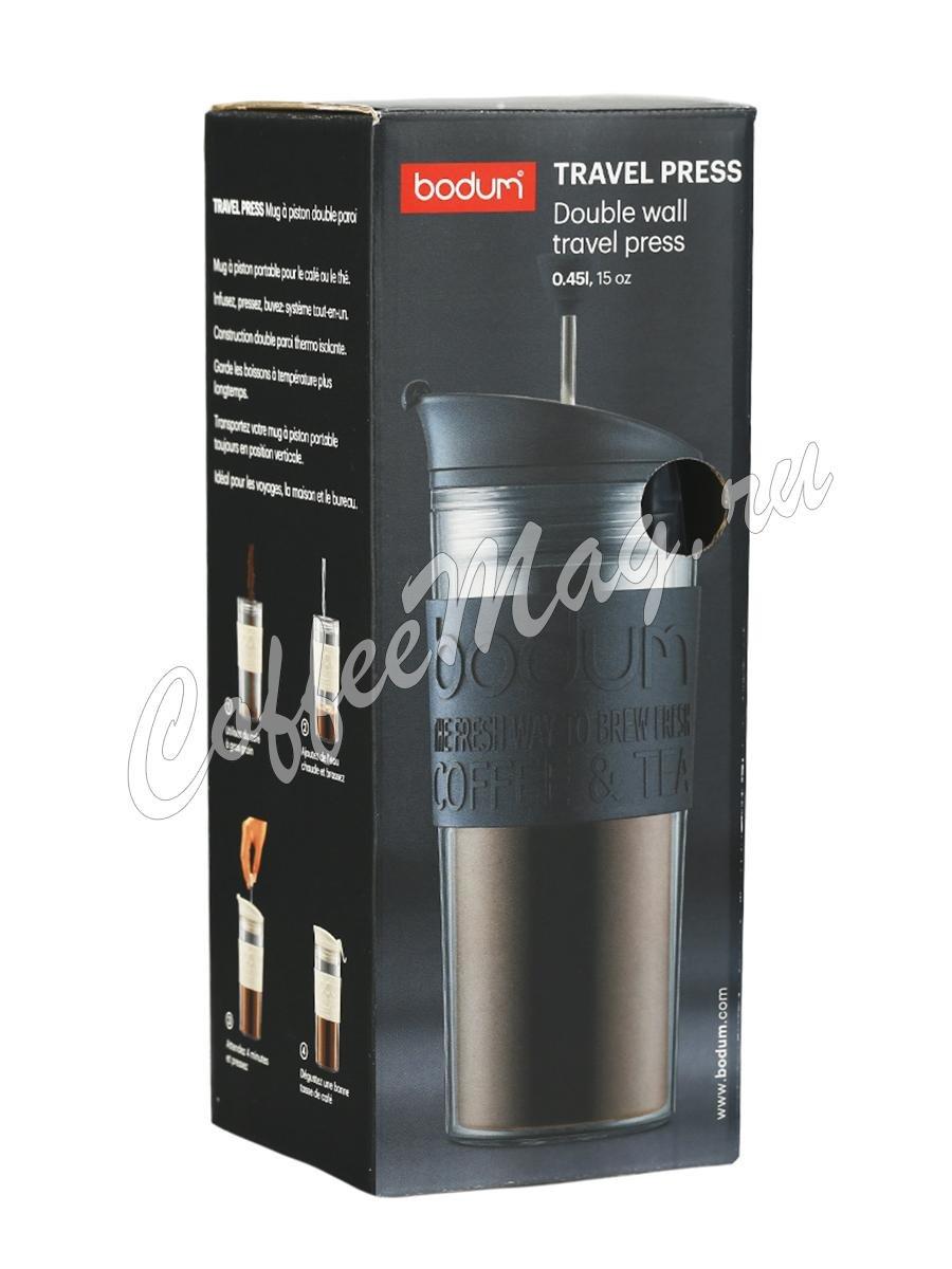 Кофейник с прессом Bodum Travel черный 450 мл (11100-01)