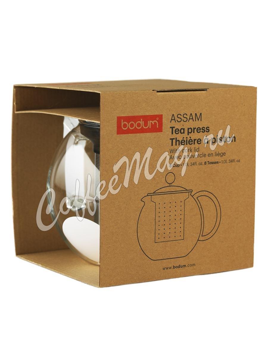Чайник заварочный Bodum Assam с фильтром и пробковой крышкой 1 л (1801-109S)