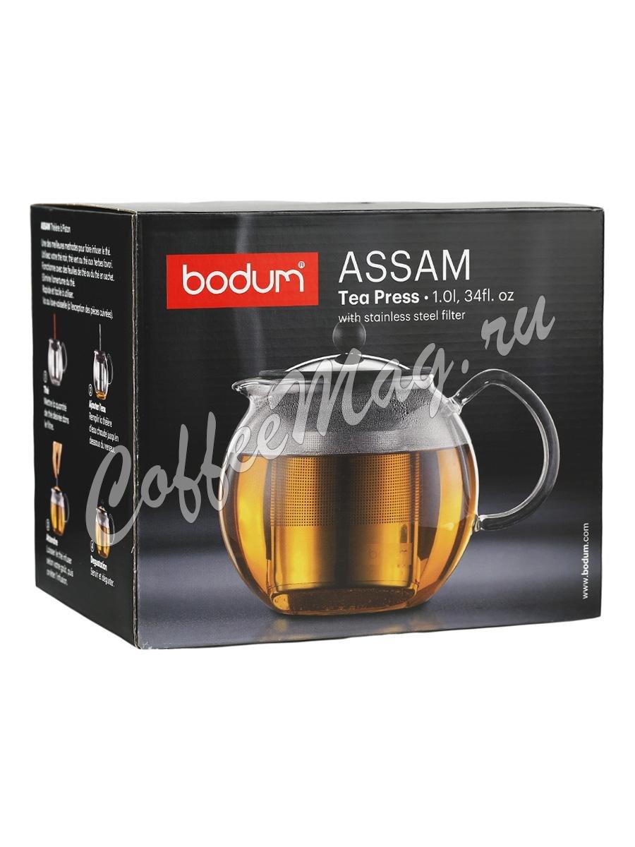 Чайник заварочный с прессом хром Bodum Assam 1 л (1801-16)