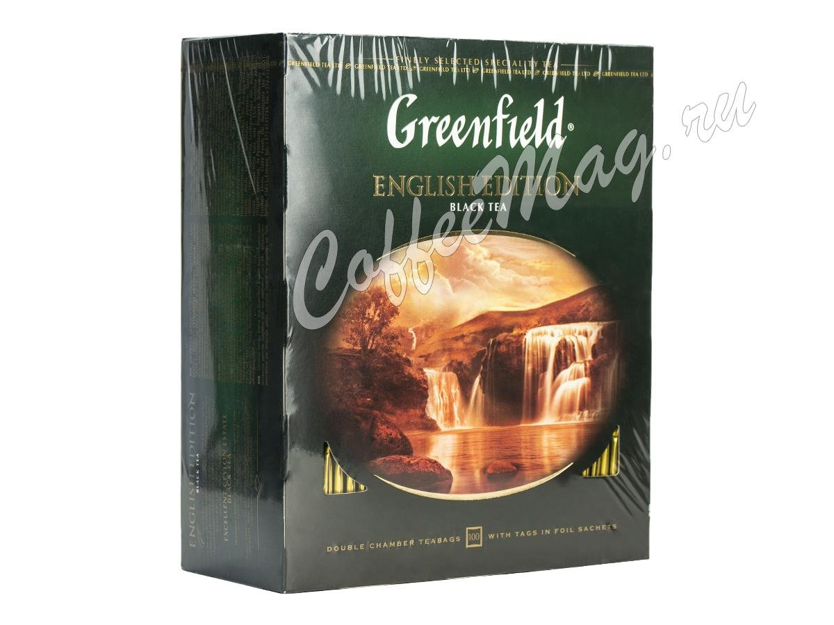Чай Greenfield English Edition (Инглиш Эдишн) черный 100 пак