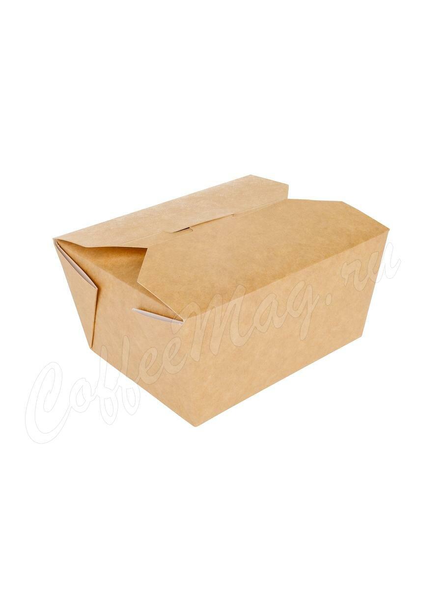 Бумажный контейнер Fold Box, Краф 600 мл 130*110*65 (50шт)