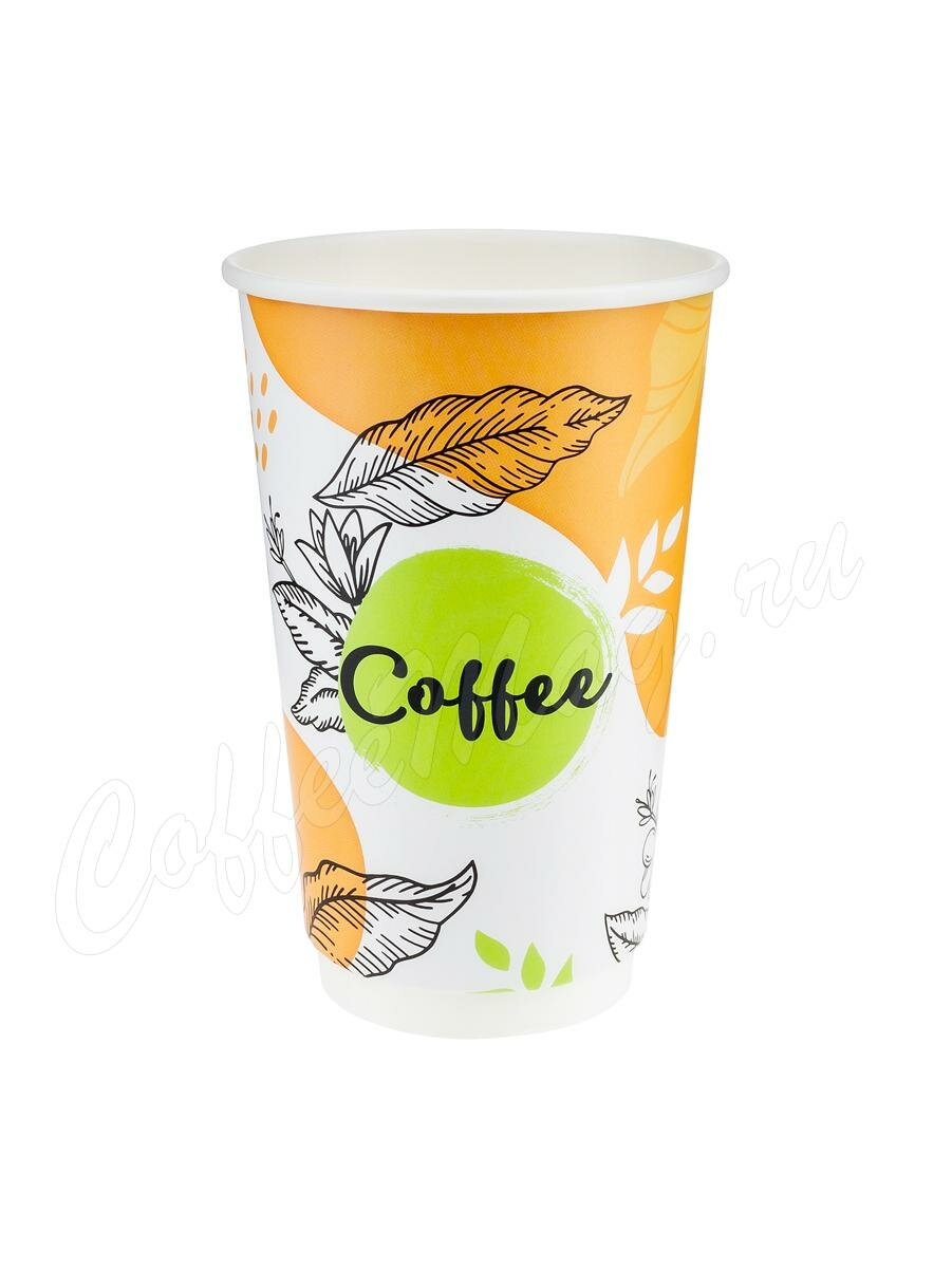 Стакан бумажный Паперскоп Coffee Pastel Thermo 400 мл D80 (18 шт)