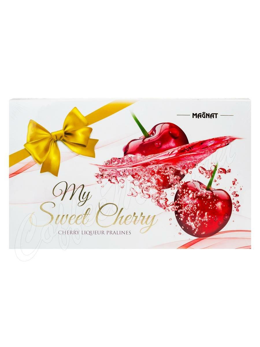 Набор конфет Magnat My Sweet Cherry пралине из темного шоколада с вишнёвым ликером 217 г