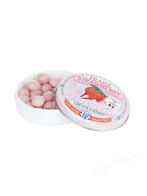 Rendez Vous Леденцы без сахара со вкусом клубники и сливок