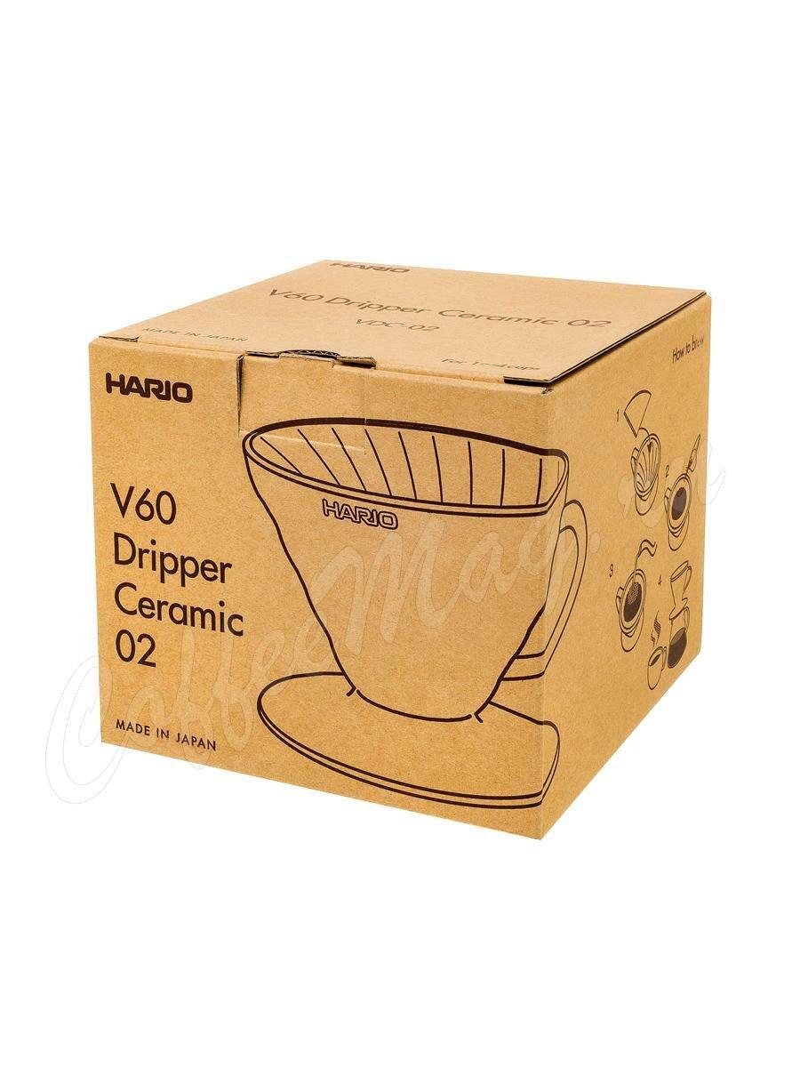 Hario Воронка Керамическая для приготовления кофе, 4 порции Индиго (VDC-02-IBU-UEX)