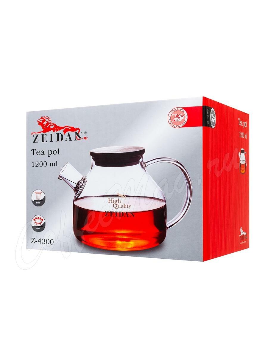 Чайник Zeidan стеклянный бамбук 1200 мл (Z-4300)