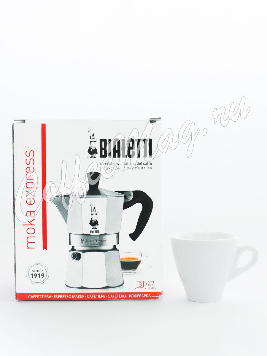 Гейзерная кофеварка Bialetti Moka Express 3 порции 120 мл