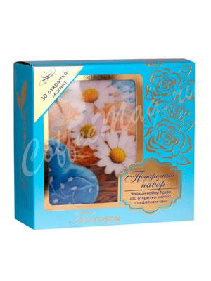 Tipson подарочный чайный набор N 1 3D открытка-магнит, салфетка и чай, синий