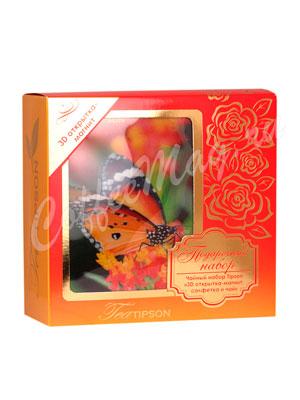 Tipson подарочный чайный набор N 1 3D открытка-магнит, салфетка и чай, красный