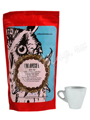Кофе Owl в зернах Colombia Quindio Washed 250 гр