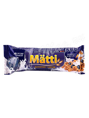 Мюсли Matti Черника в йогурте