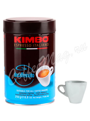 Кофе Kimbo молотый Decaffeinato 250 гр ж.б
