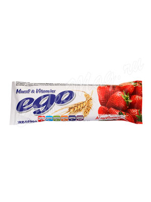 Батончики Мюсли Ego Клубника с железом и витаминами