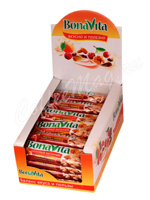 Ореховый Батончик Bona Vita Семечки с медом в шоколадной глазури