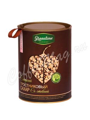 Сахар Greentime тростниковый со стевией, Кусковой 350 гр