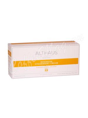 Чай Althaus Rooibush Strawberry Cream/ Ройбуш Клубника со сливками для чайника  20х4гр