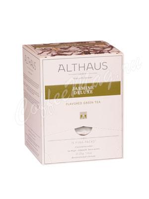 Чай Althaus Jasmin Delux/ Жасмин Делюкс Пирамидки для чашки 15х2,75гр