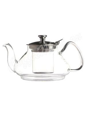 Чайник стеклянный с металлический крышкой 750 мл