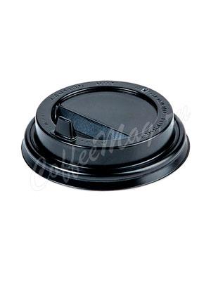 Крышка для бумажных стаканов Papperskopp с клапаном 80 мм (Черная)