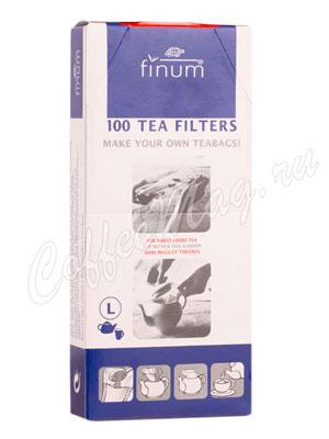 Одноразовые фильтры для чая Finum L отбеленные 100 шт