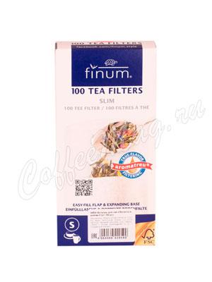 Одноразовые фильтры для чая Finum S отбеленные 100 шт