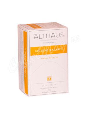 Чай Althaus Ginseng Balanсе Женьшеневое равновесие 20 пак.