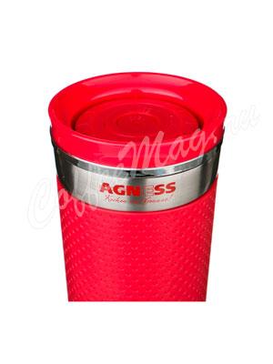 Термокружка Agness 400 мл красная (910-504)
