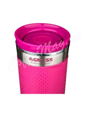 Термокружка Agness 400 мл сиреневая (910-505)
