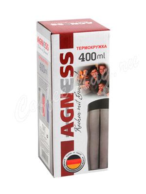 Термокружка Agness 400 мл красная (709-021)