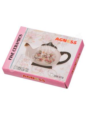 Подставка под чайные пакетики Agness Розовый сад (358-920)