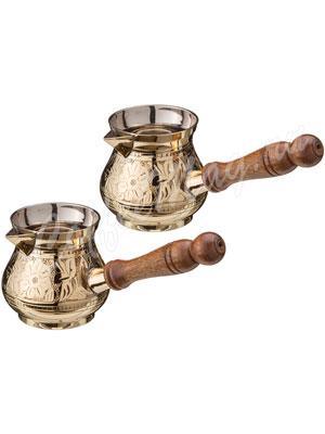 Набор турок из 2 шт латунь диаметр 7 см (877-032)