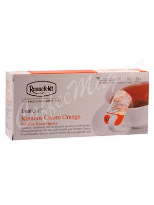 Чай Ronnefeldt Rooibus Cream Orange/Ройбуш Крем Оранж в сашете на чашку (Leaf Cup)