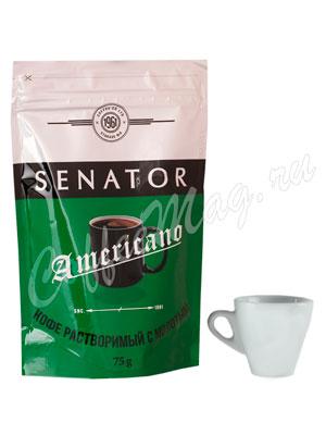 Кофе Senator Americano растворимый сублимированный с добавлением молотого 75 г