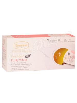 Чай Ronnefeldt Fruity White Bio/Белый чай с фруктами в сашете на чайник (Tea Caddy)