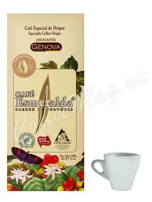 Кофе Cafe Esmeralda Genova в зернах 340гр + чашка в подарок