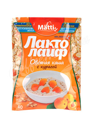 Matti Лакто Лайф Каша овсяная с курагой